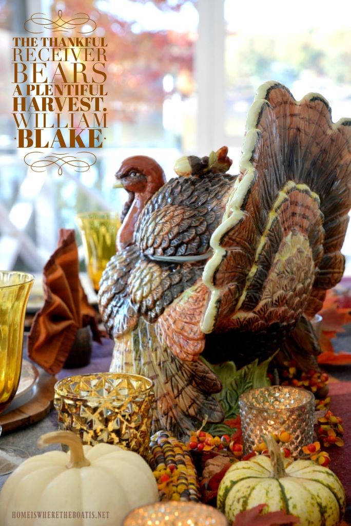 The thankful receiver bears a plentiful harvest. - William Blake | ©homeiswheretheboatis.net #thanksgiving #quote #harvest