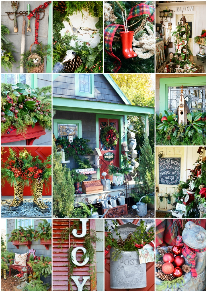 Christmas around the Potting Shed | ©homeiswheretheboatis.net #christmas #shed