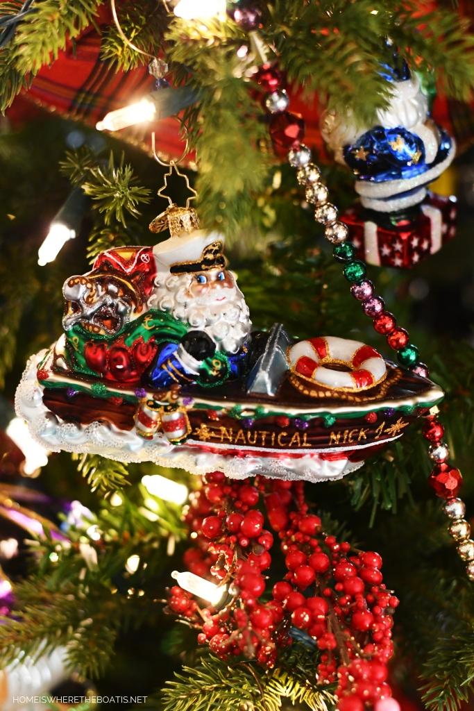 Nautical Nick Christmas Ornament | ©homeiswheretheboatis.net #Christmas #tree