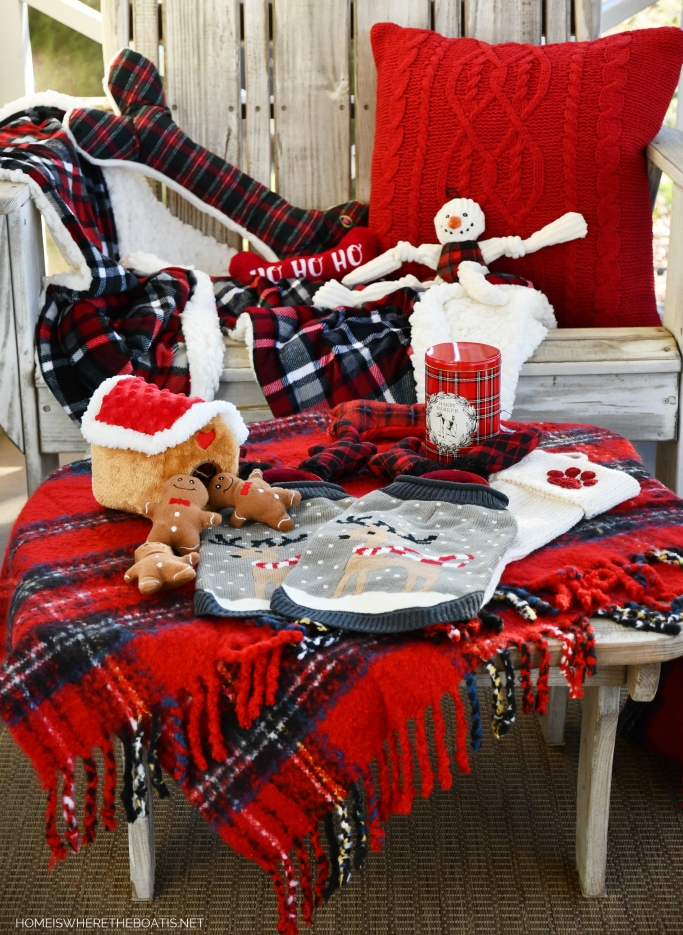 A Visit from Santa Paws for Lola and Sophie | ©homeiswheretheboatis.net #dogs #christmas #bichonfrise #plaid
