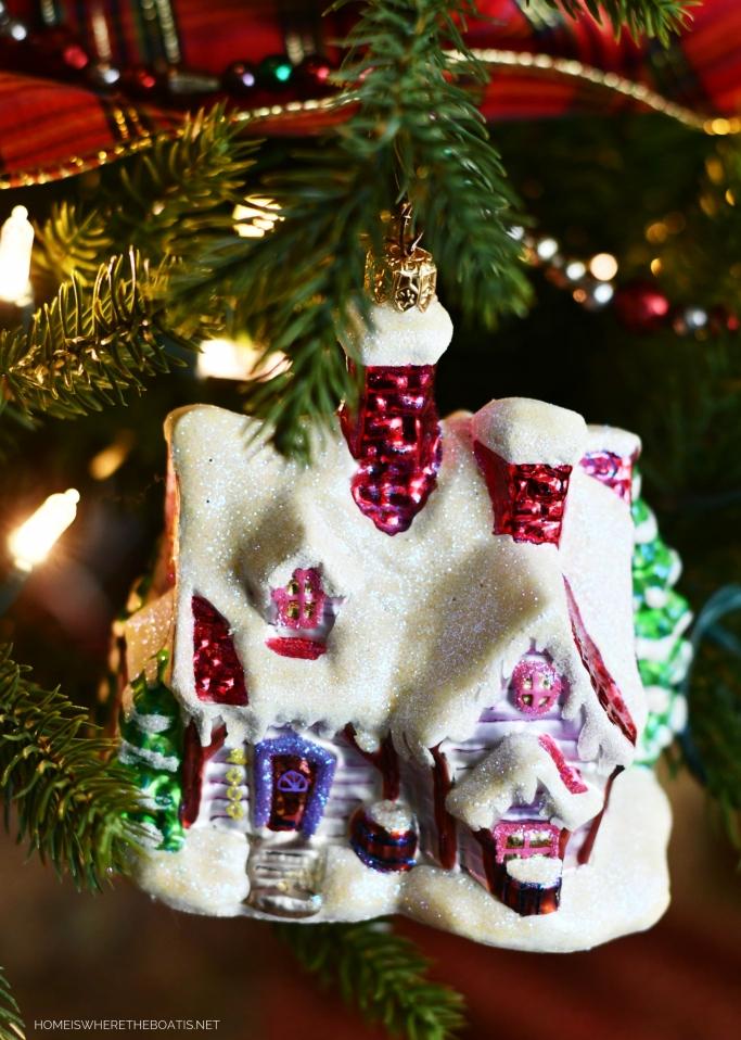 Radko House Christmas Ornament | ©homeiswheretheboatis.net #Christmas #tree