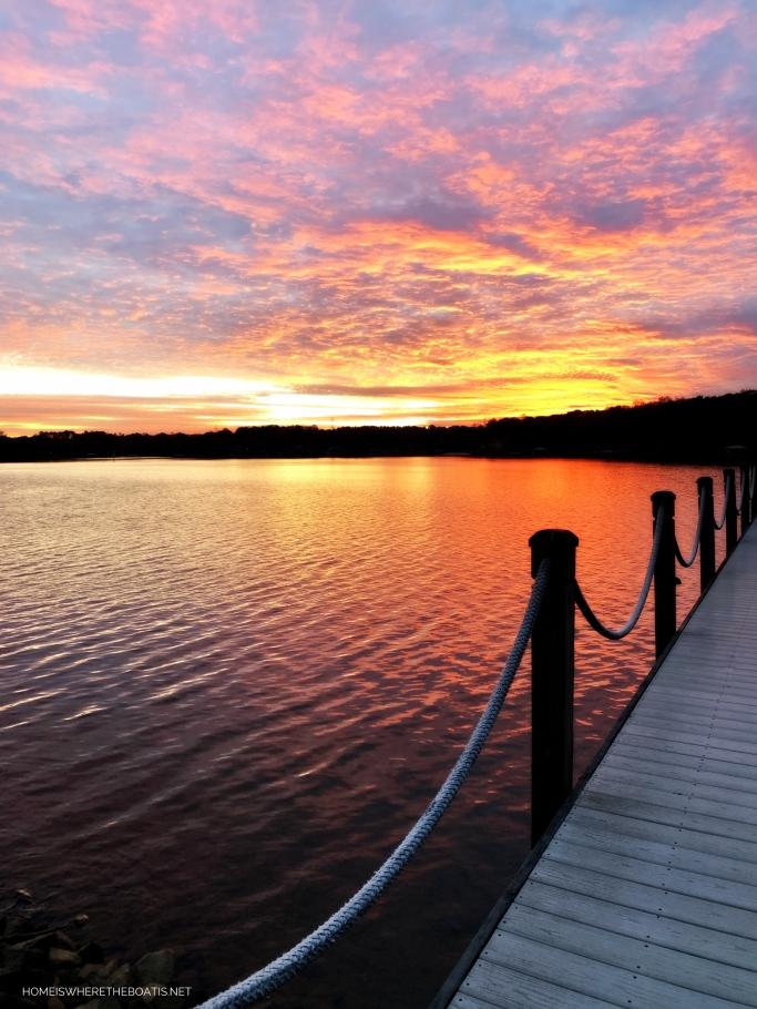 Sunset Dock Lake Norman   ©homeiswheretheboatis.net #sunset #LKN