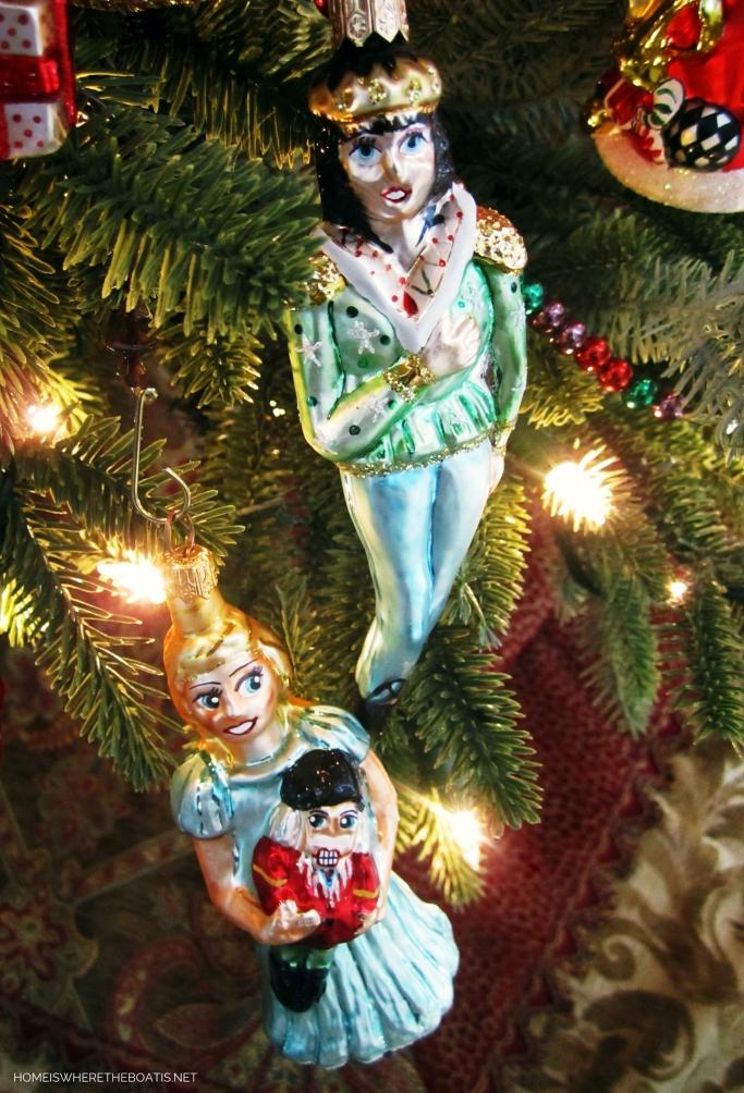 Nutcracker Prince and Clara Christmas Ornaments | ©homeiswheretheboatis.net #Christmas #tree