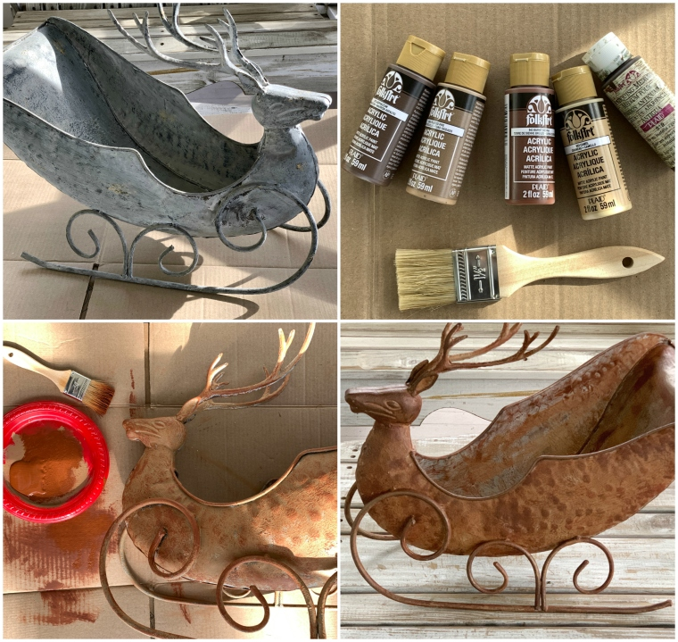 Deer sleigh makeover with paint | ©homeiswheretheboatis.net #paint