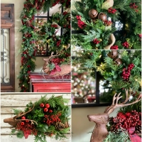 A Makeover for Dasher or Dancer + Rustic Holiday Wreath and Garland
