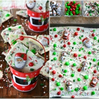 Easy Christmas Santa and Snowman Bark