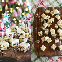 White Chocolate Cranberry-Orange-Pistachio Fudge!