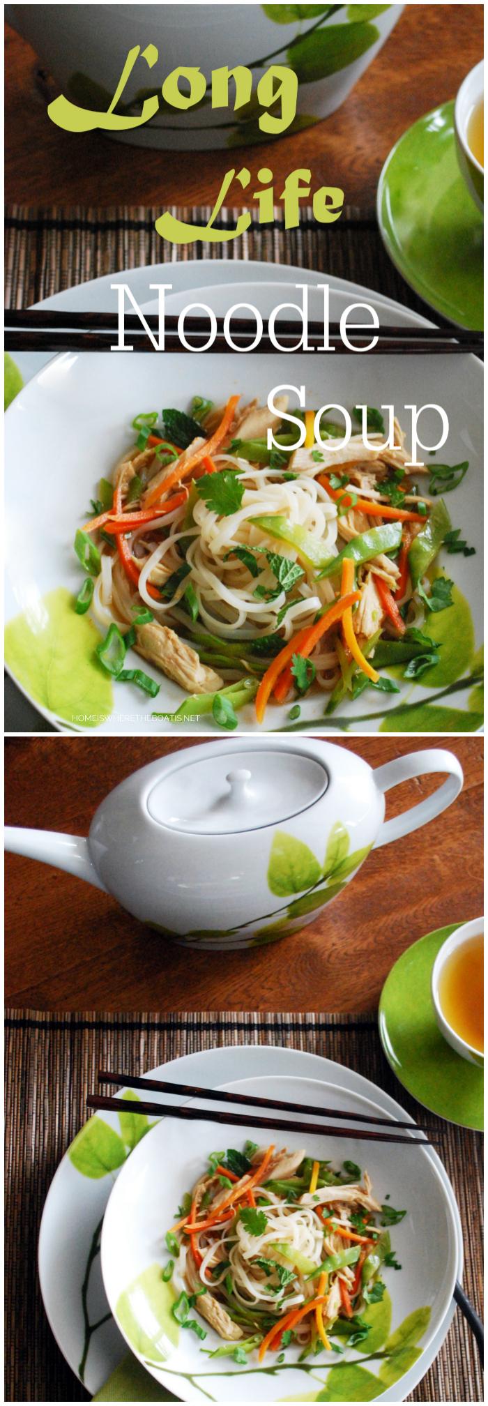 Long Life Noodle Soup | ©homeiswheretheboatis.net
