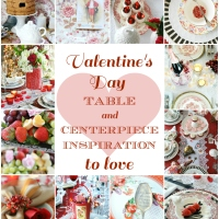 Valentine's Day Tablescape Round Up + Dish Love Giveaway