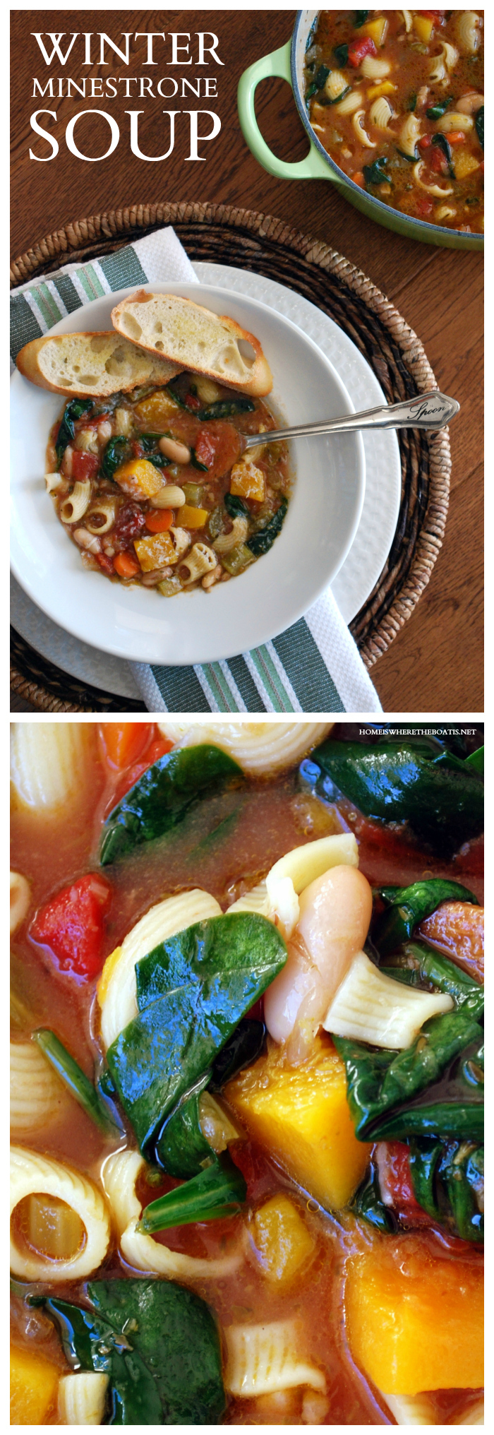 Ina Garten's Winter Minestrone. I can't say enough good things about this soup recipe…foolproof, hearty, comforting, but the proof is in the bowl.