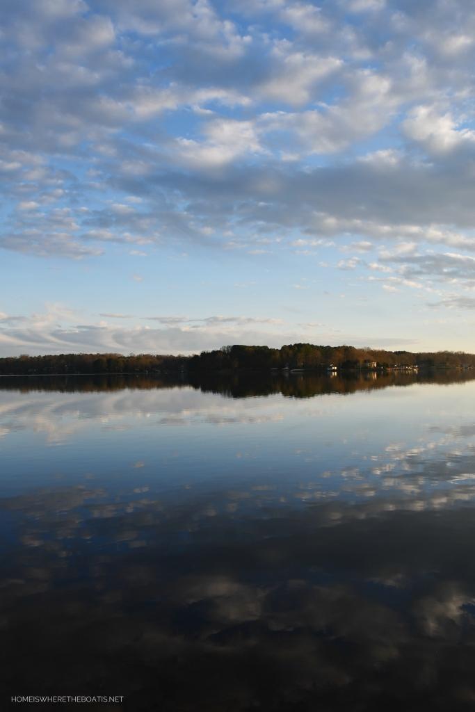 Weekend Waterview Lake Norman February | ©homeiswheretheboatis.net #LKN #lake #reflections