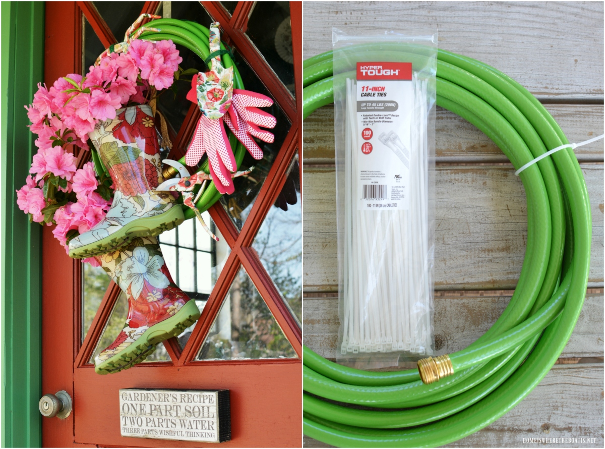 Potting Shed: Growing a Garden Hose Wreath with Blooming Wellies ...