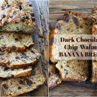 Dark Chocolate Chip-Walnut Banana Bread