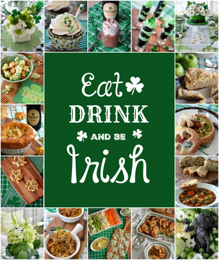 Eat, Drink and Be Irish! St. Patrick's Day round up of recipes and table inspiration! | ©homeiswheretheboatis.net #recipes #stpatricksday #Irish #dessert #tablescapes #appetizer