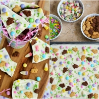 No-Bake Easter Bunny Bark