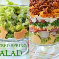 Layered Spring Salad for Easter
